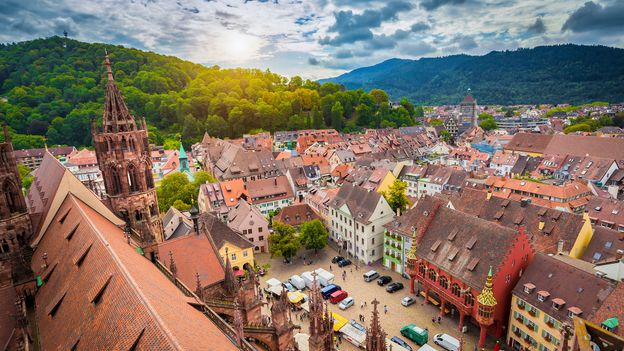 The medieval city of Freiburg is celebrating its 900th anniversary this year (Credit: Credit: bluejayphoto/Getty Images)