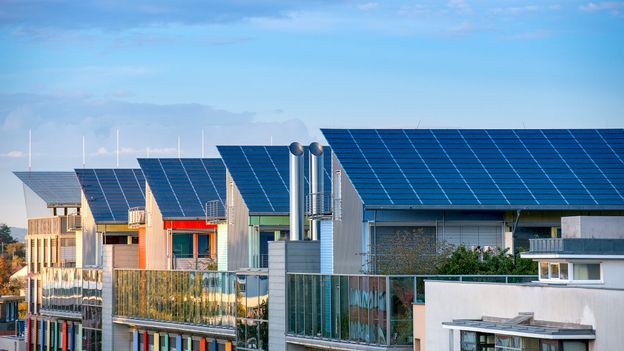 The eco-friendly suburb of Vauban is filled with low-energy buildings (Credit: Credit: Gyuszko/Getty Images)